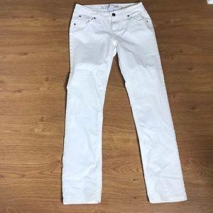 Total Girl White Jeans Size 14 Slim